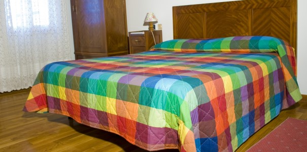 camera matrimoniale colorata
