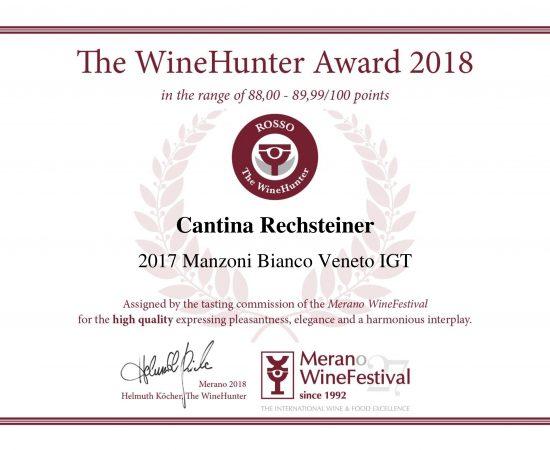 The WineHunter Award_Manzoni 2017
